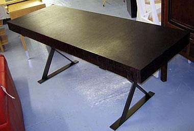 ANTONIO CITTERIO DESK, wenge veneered on steel