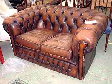 Swell Chesterfield Sofa Small Two Seater Tanned Lamtechconsult Wood Chair Design Ideas Lamtechconsultcom