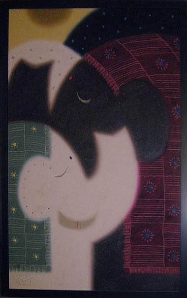GOVINDER NAZRAN (1964-2008), 'You and I', oil on