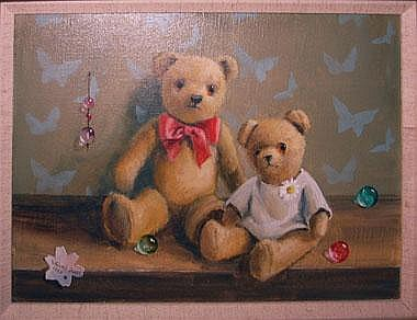 DEBORAH JONES (British, b.1921), 'Two Teddy Bears