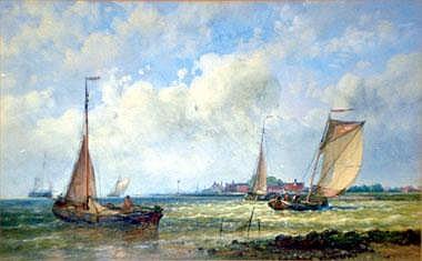 ABRAHAM HULK Jnr (1851-1922), 'Seascape',