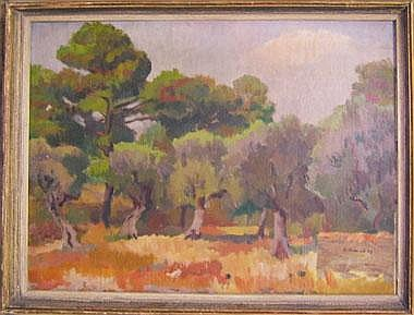 ALFRED BLOESCH (1890-1967), 'Landscape', oil on