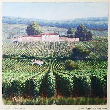LIONEL AGGETT (b.1938), 'Brouilly, beaujolais',