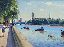 RONALD MORGAN RBA ROI (b.1936), 'The Thames at
