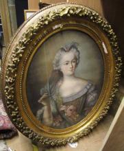 OVAL PORTRAIT OF MARIE ANTOINETTE