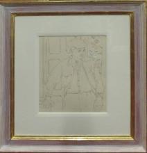 PETER SAMUELSON (British 1912-1986) 'Roland Sketching' and 'Roland Standing'