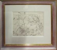 PETER SAMUELSON (British 1912-1986) 'Sleeping Young Men'
