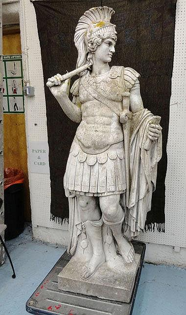 STATUE IN MANNER OF THE ANTIQUE, a Greek male