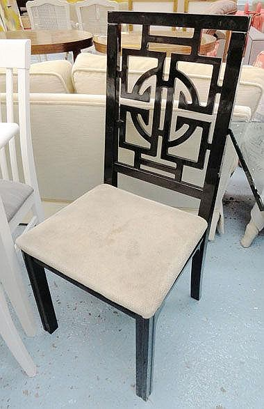 Dining Chairs Black Lacquer Chinese, Asian Inspired Dining Chairs