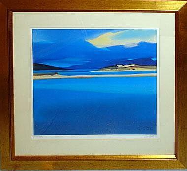 PAM CARTER (born 1952), 'Luskentyre blue',