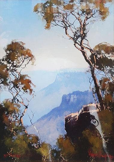 WERNER FILIPICH (b.1943), 'Blue mountains', oil on