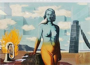 RENE MAGRITTE, 'La Domaine Enchanté VI',