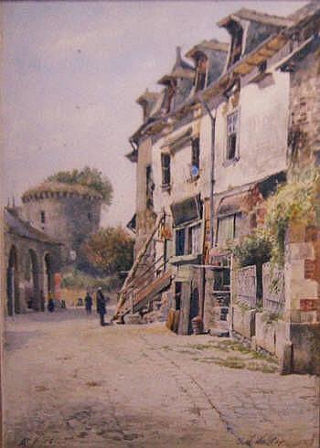 JAMES WILLIAM WALKER (1831-1898), 'At Vitré,