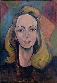 DORIS VAUGHAN (1894-1975), 'Self Portrait', oil on