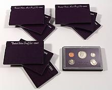 (10) United States Proof Sets 1984-'93