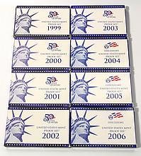 (8) U.S. Proof Set, 1999-2006