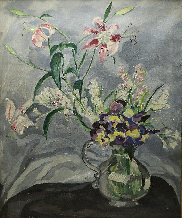 O/C Ethel Paddock, Floral Painting