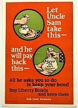 WWI Buy Liberty Bonds, Uncle Sam