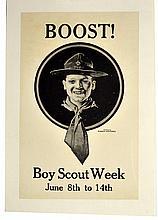 WWI, Boost! Boy Scout Week, Norman Rockwell
