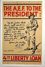 WWI The A.E.F to the President 1918