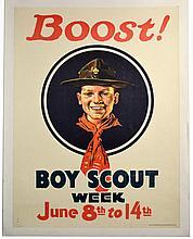 WWI Boost! Boy Scout Week, Norman Rockwell