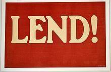 WWI Lend! Carey Print Litho NY
