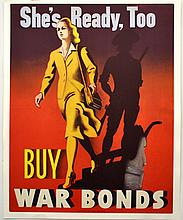 WWII She's Ready, Too - Buy War Bonds