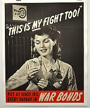 WWII This is My Fight Too, 10% War Bonds
