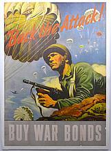 WWII Back The Attack, Buy War Bonds, Schreiber