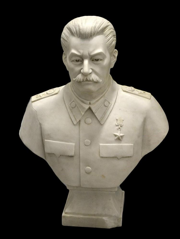 Bust, Stalin-Marble,s.d.Vera Mukhina, Mockba 1947