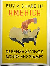 WWII Buy a Share In America, Henry Billing, Large