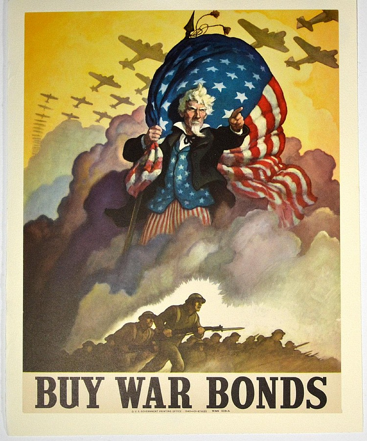 Lot Wwii Buy War Bonds Uncle Sam N C Wyeth