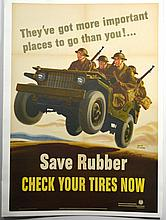 WWII Save Rubber, Walter Richards, Large