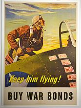 WWII Keep Him Flying, George Schreider, Large