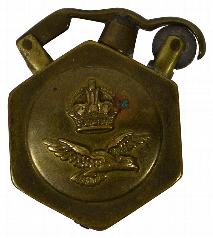 Lighter, Trench Art, WW1, Eagle / Crown