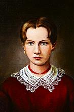 O/C Portrait, Young Woman, John Insco Williams