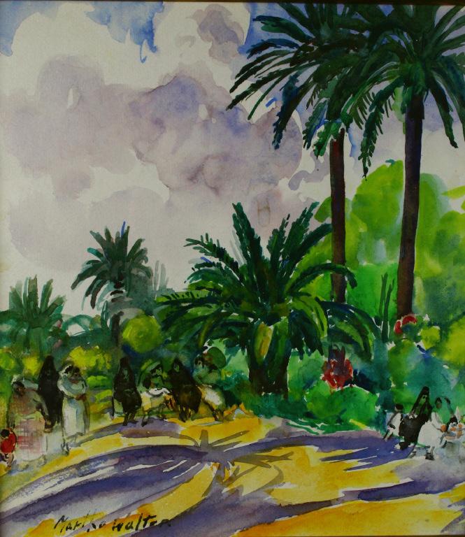 W/C, Tropical Scene, Martha Walters