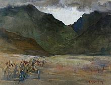 WC/P, Hawaiian Mountains?,Hilda M. Gordon, 20th C