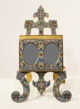 Champlevé Double Opening Picture Frame, ca. 1890