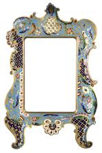 Champlevé Bronze French Frame, ca. 1885