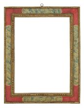 17th Century Spanish Faux Marble Cassetta Frame