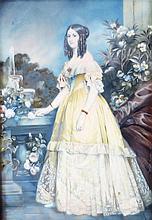 WINTERHALTER FRANZ XAVER (1805 - 1873) - RITRATTO DELLA PRINCIPESSA VITTORIA DI SASSONIA-COBURGO E GOTHA