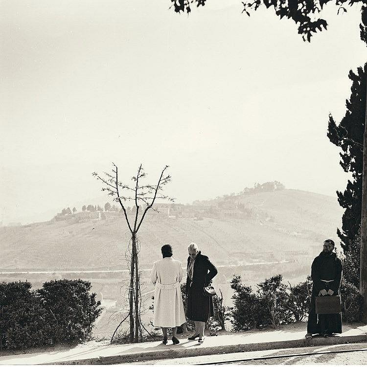 Giuseppe Cavalli - SOSTA A FERMO 1956 - Stampa alla gelatina ai sali