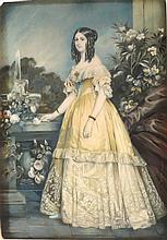 FRANZ XAVER WINTERHALTER - Ritratto della principessa Vittoria di Sassonia