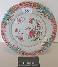 Chinese Export 18th century porcelain dish finely