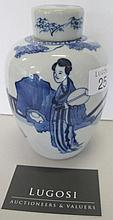 19th century Chinese underglaze blue ginger jar