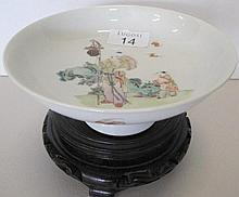 Fine Chinese Famille rose stem dish, Qianlong mark