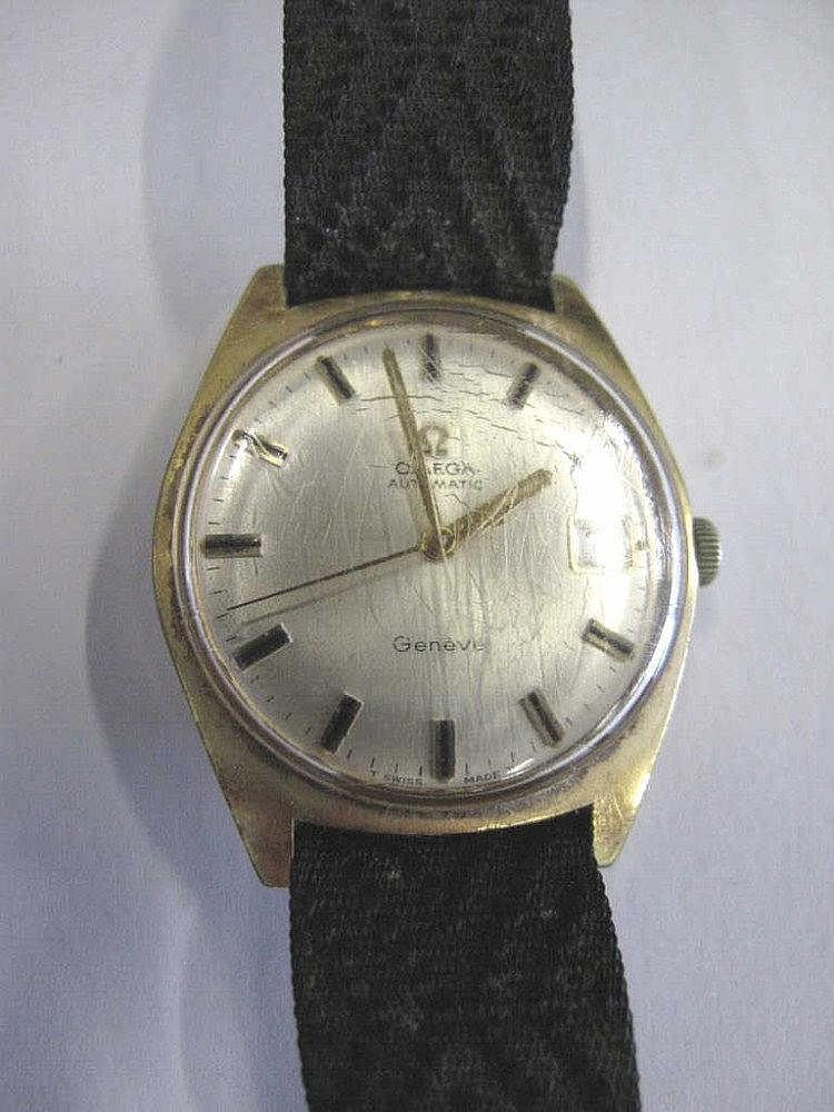 Omega Geneve vintage man's wristwatch works