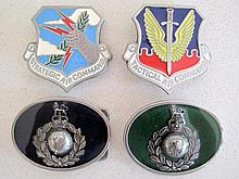 Two Royal Marines belt buckles with Tactical Air Command and Strategic Air