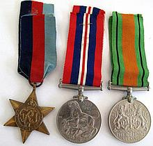 Three British WW11 Medals unnamed The 1939-45 Star, Defence Medal and War m
